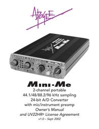 Apogee mini me User Manual