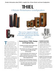 Thiel cs1.6 Brochure
