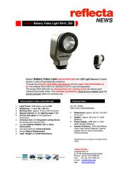 Reflecta RAVL 200 20308 Leaflet