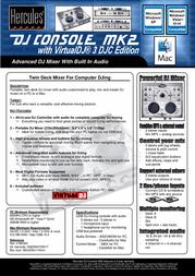 Hercules DJ Console MK2 4780393 User Manual