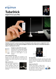Equinux TubeStick EQ20072 Leaflet