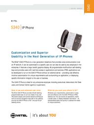Mitel Networks 5340 IP Phone 50005071 User Manual