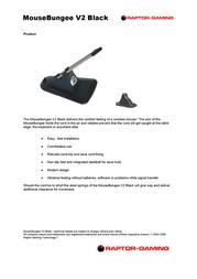 Raptor Gaming MouseBungee V2 00039974 Leaflet
