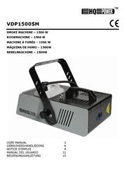 HQ Power Professional smoke machine 1500W DMX VDP1500SM User Manual