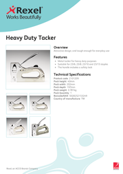 Rexel Heavy Duty Tacker 2101209 Leaflet