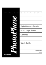 Phase One PhotoPhase 85280002 User Manual