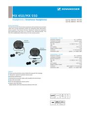 Sennheiser MX 550 MX550 Leaflet