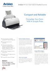 Avision AV122 000-401C-S7G Leaflet