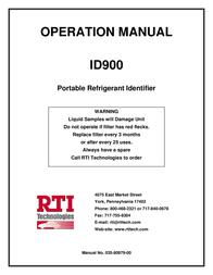 RTI ID900 User Manual