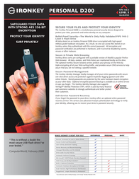 IronKey 4GB D200 MLC Personal D2-D200-S04-2FIPS Leaflet