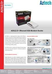 Aztech DSL705EU Product Datasheet