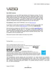 VIZIO E470VA User Manual