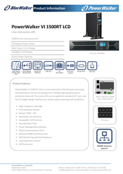 BlueWalker Powerwalker VI 1500RT LCD 10120023 User Manual