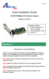 AirLink AG32PCI User Manual