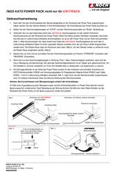 Kato 78523 Kato Power Pack 78523 Data Sheet