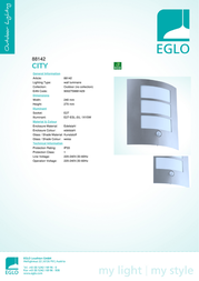 Eglo CITY 88142 Leaflet