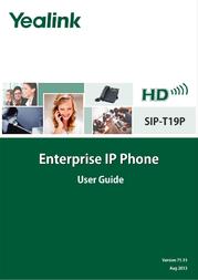 YEALINK NETWORK TECHNOLOGY CO. LTD. T19P User Manual