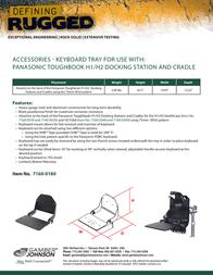 Gamber-Johnson Keyboard Tray 7160-0180 Leaflet