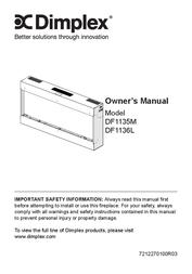 Dimplex DF1135M User Manual