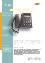 Innovaphone IP110 Supplementary Manual