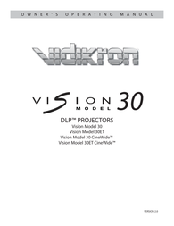 Vidikron 30 User Manual