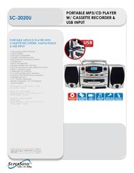 Supersonic SC-2020U Leaflet