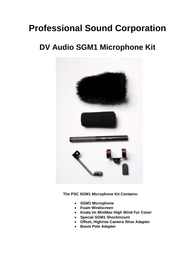 PSC SGM1 User Manual