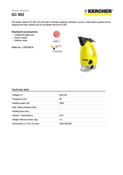 Kärcher SC 952 1.516-201.0 User Manual