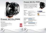 Arctic Cooling Freezer 64 Pro PWM AC-FRZ-64P Leaflet