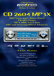 Dayton CD 2604 MP3X CD MP3 Player / RDS Tuner CD2604MP3X Leaflet