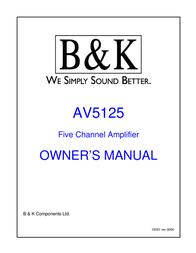 B&K AV5125 User Manual