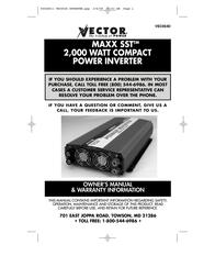Vector VEC054D User Manual
