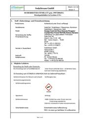 SodaStream 1211112491 Data Sheet