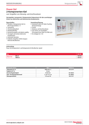 Cellpack Power-Gel/400ml/EGH/DE 335120 Data Sheet