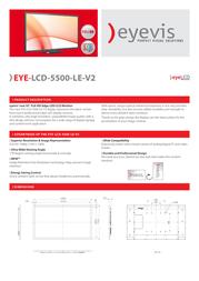 eyevis EYE-LCD-5500-LE-V2 Leaflet