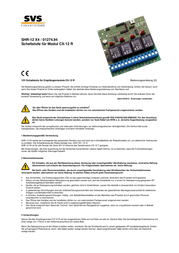 Svs Nachrichtentechnik 01274.94 433MHz Radio Component 01274.94 Data Sheet