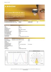 Ledon LED (monochrome) 12 V GU5.3 8 W = 40 W Warm white ATT.CALC.EEK: A Reflector bulb dimmable Content 1 pc(s) 28000325 Data Sheet
