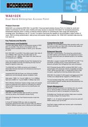 Edge-Core WA6102X2 Indoor Access Point WA6102X2 Leaflet