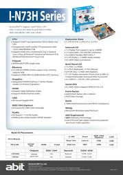 abit I-N73HD Leaflet