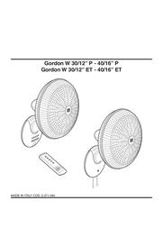 "Vortice Gordon W 30/12"" ET 60643 User Manual"