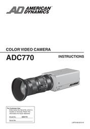 American Dynamics Tyco ADC770 User Manual