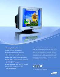 Samsung SyncMaster 793DF Silver/Black LE-17KSBBQ Leaflet