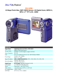 SVP dv-1206 Specification Guide