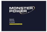 Monster Power MP EP IR 3650 Surge Protector 120254-00 User Manual