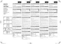Denon AH-C252 User Guide