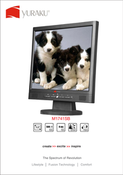 """Yuraku 17"""" LCD Monitor M1741SB Leaflet"""