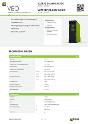 Tele 125120 Time Delay Relay, Timer, Casing: IP40 / connection: IP20 125120 Data Sheet