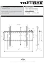 """Atdec TELEHOOK 32-60"""" Wall Fixed - Bk TH-32-60-UFB Leaflet"""