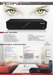 Amiko SSD549 CX RF SSD549CXRF Leaflet