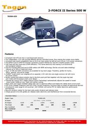 Tagan TG500-U33 2-Force II TG500-U33 Leaflet
